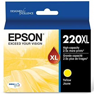 T220XL420 Ink Cartridge - Epson Genuine OEM (Yellow)