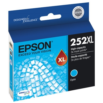 T252XL220 Ink Cartridge - Epson Genuine OEM (Cyan)