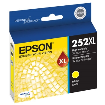 T252XL420 Ink Cartridge - Epson Genuine OEM (Yellow)