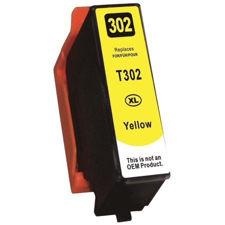 T302XL420 Ink Cartridge - Epson Remanufactured (Yellow)