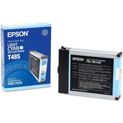 Genuine Epson T485011 Light Cyan Ink Cartridge