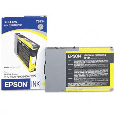T543400 Ink Cartridge - Epson Genuine OEM (Yellow)