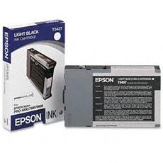 T543700 Ink Cartridge - Epson Genuine OEM (Light Black)