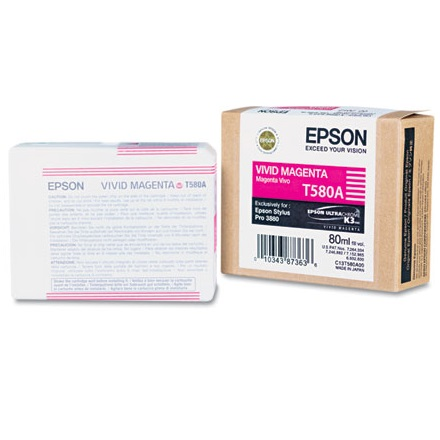 T580A00 Ink Cartridge - Epson Genuine OEM (Vivid Magenta)