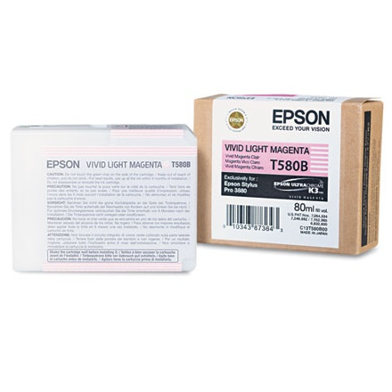 T580B00 Ink Cartridge - Epson Genuine OEM (Light Vivid Magenta)