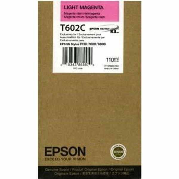 Genuine Epson T602C00 Light Magenta Ink Cartridge
