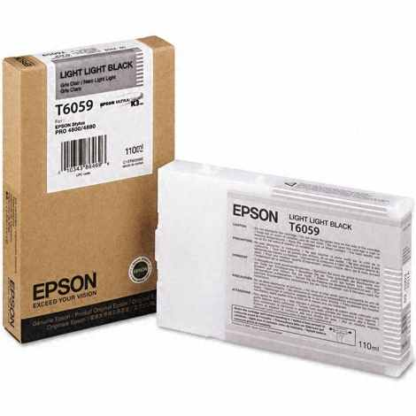 T605900 Ink Cartridge - Epson Genuine OEM (Light Light Black)