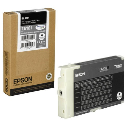 T616100 Ink Cartridge - Epson Genuine OEM (Black)