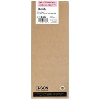 T636600 Ink Cartridge - Epson Genuine OEM (Light Vivid Magenta)