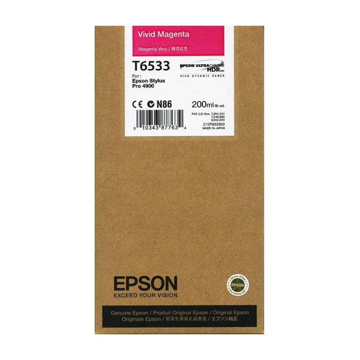 Genuine Epson T653300 Vivid Magenta Ink Cartridge
