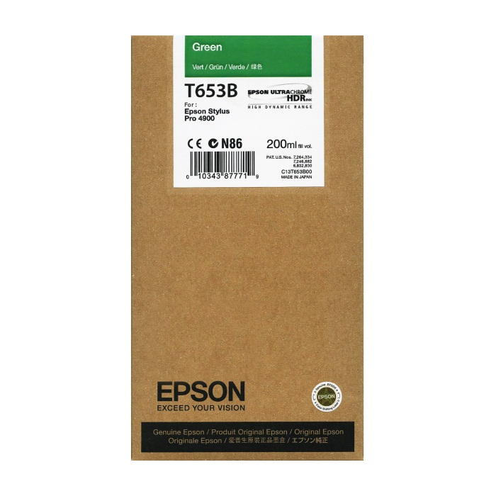 Genuine Epson T653B00 Green Ink Cartridge