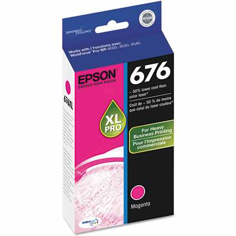 T676XL320 Ink Cartridge - Epson Genuine OEM (Magenta)