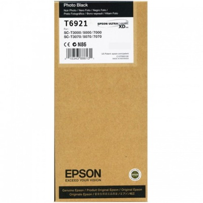 T692100 Ink Cartridge - Epson Genuine OEM (Photo Black)