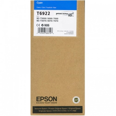 T692200 Ink Cartridge - Epson Genuine OEM (Cyan)