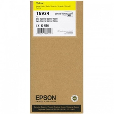T692400 Ink Cartridge - Epson Genuine OEM (Yellow)