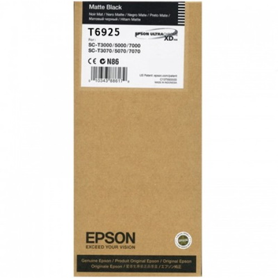 T692500 Ink Cartridge - Epson Genuine OEM (Matte Black)