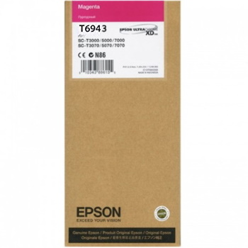 T694300 Ink Cartridge - Epson Genuine OEM (Magenta)