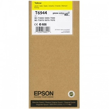 T694400 Ink Cartridge - Epson Genuine OEM (Yellow)