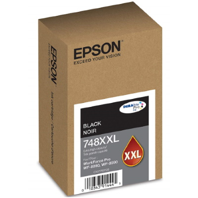 T748XXL120 Ink Cartridge - Epson Genuine OEM (Black)