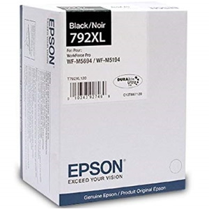 T792XL120 Ink Cartridge - Epson Genuine OEM (Black)
