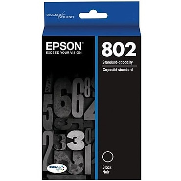 T802120 Ink Cartridge - Epson Genuine OEM (Black)