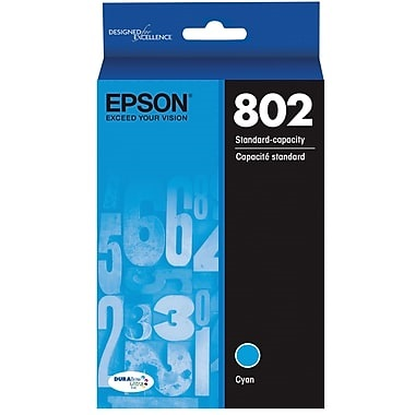 T802220 Ink Cartridge - Epson Genuine OEM (Cyan)