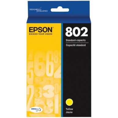 T802420 Ink Cartridge - Epson Genuine OEM (Yellow)