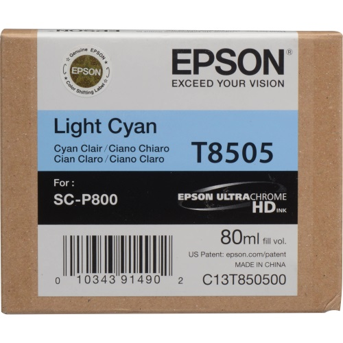 T850500 Ink Cartridge - Epson Genuine OEM (Light Cyan)