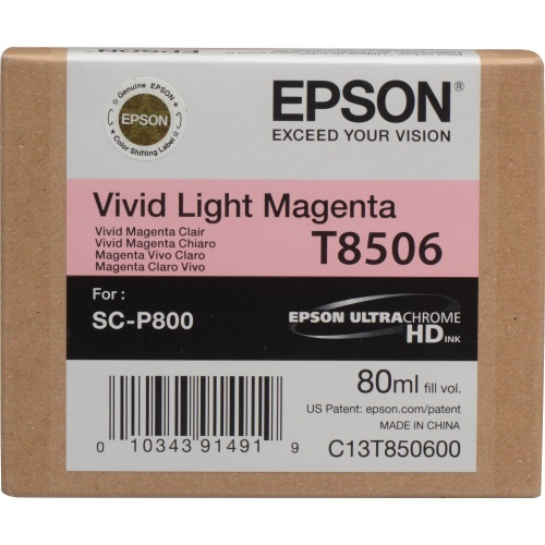 T850600 Ink Cartridge - Epson Genuine OEM (Light Magenta)