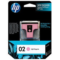 HP 02 Light Magenta Ink Cartridge - HP Genuine OEM (Light Magenta)