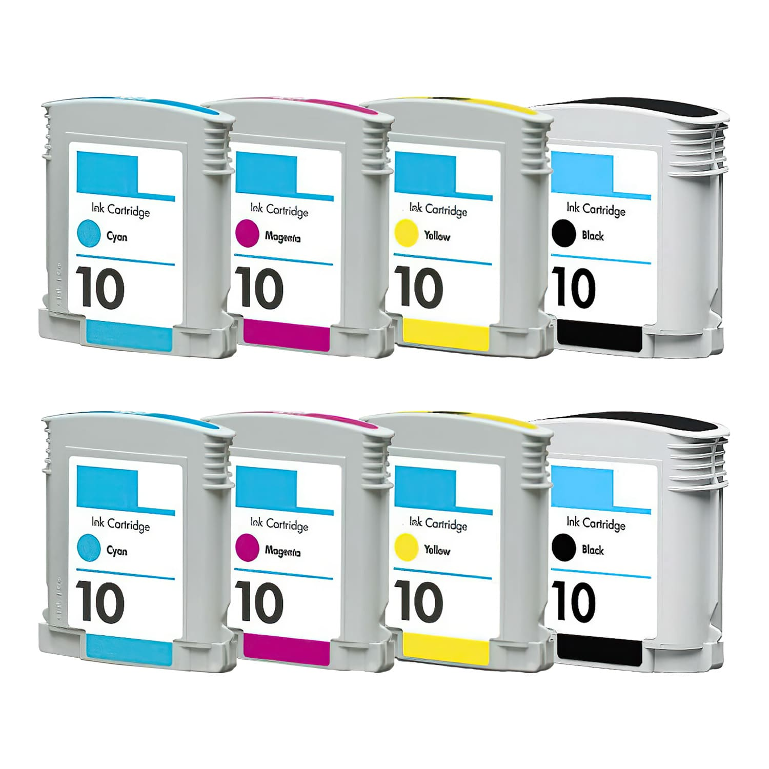 Remanufactured HP 10 Inkjet Pack - 8 Cartridges