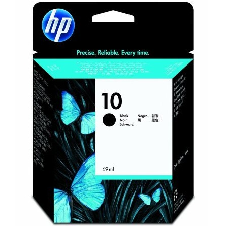 HP 10 Black Ink Cartridge - HP Genuine OEM (Black)