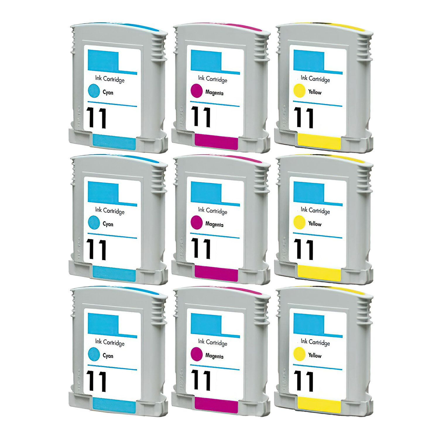 Remanufactured HP 11 Inkjet Pack - 9 Cartridges