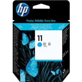 HP 11 Cyan Ink Cartridge - HP Genuine OEM (Cyan)