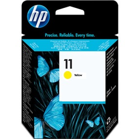 HP 11 Yellow Ink Cartridge - HP Genuine OEM (Yellow)