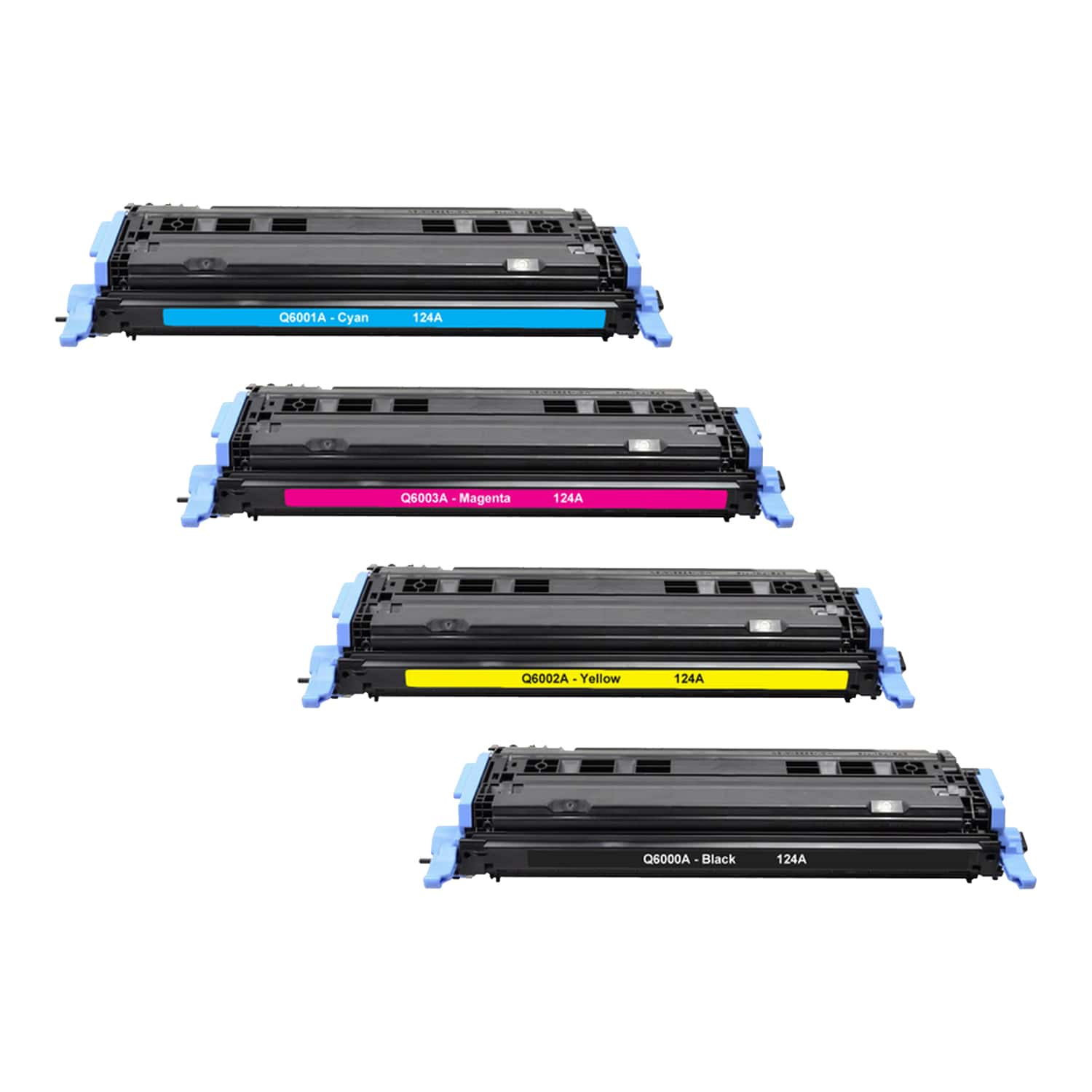 Remanufactured HP 124A Toner Pack - 4 Cartridges
