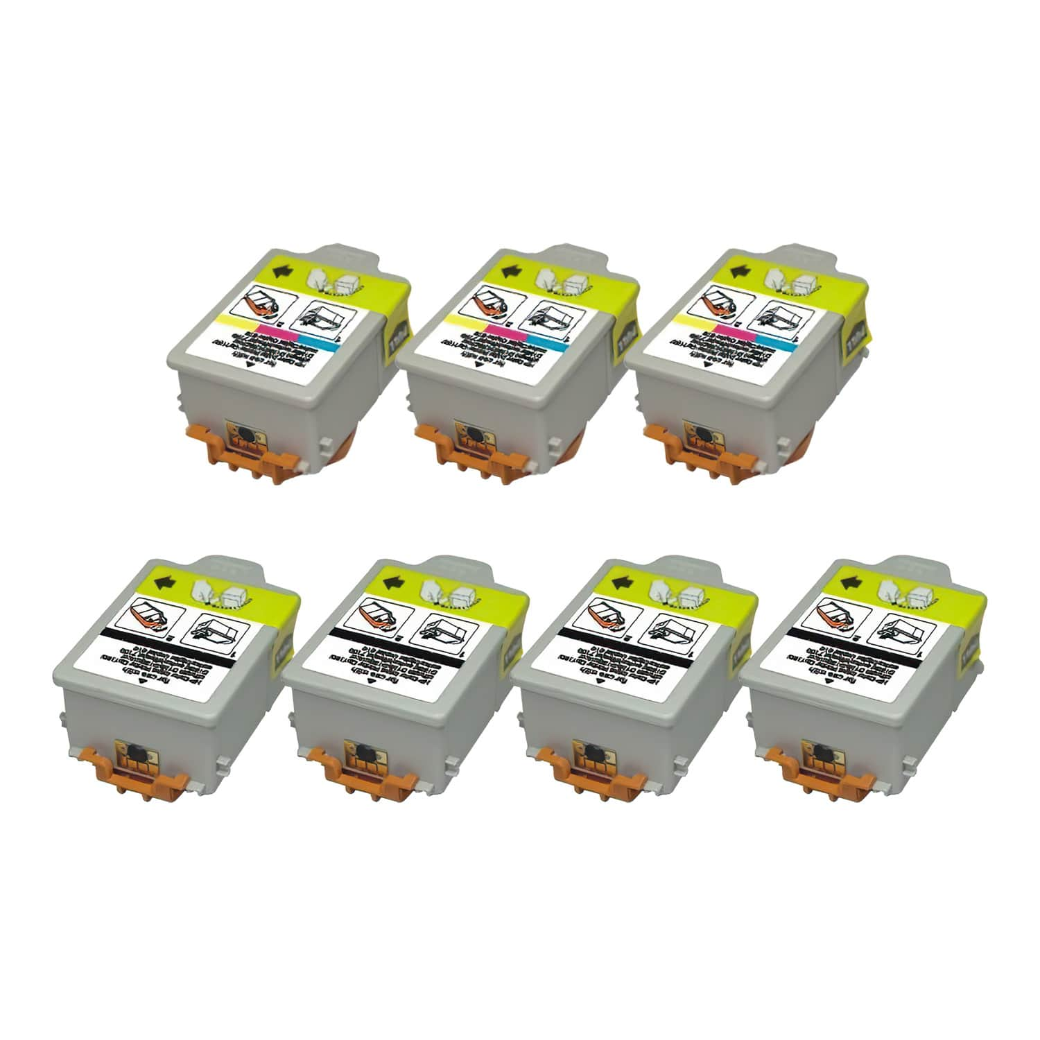 Remanufactured HP 14 Inkjet Pack - 7 Cartridges