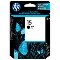 HP 15 Ink Cartridge - HP Genuine OEM (Black)