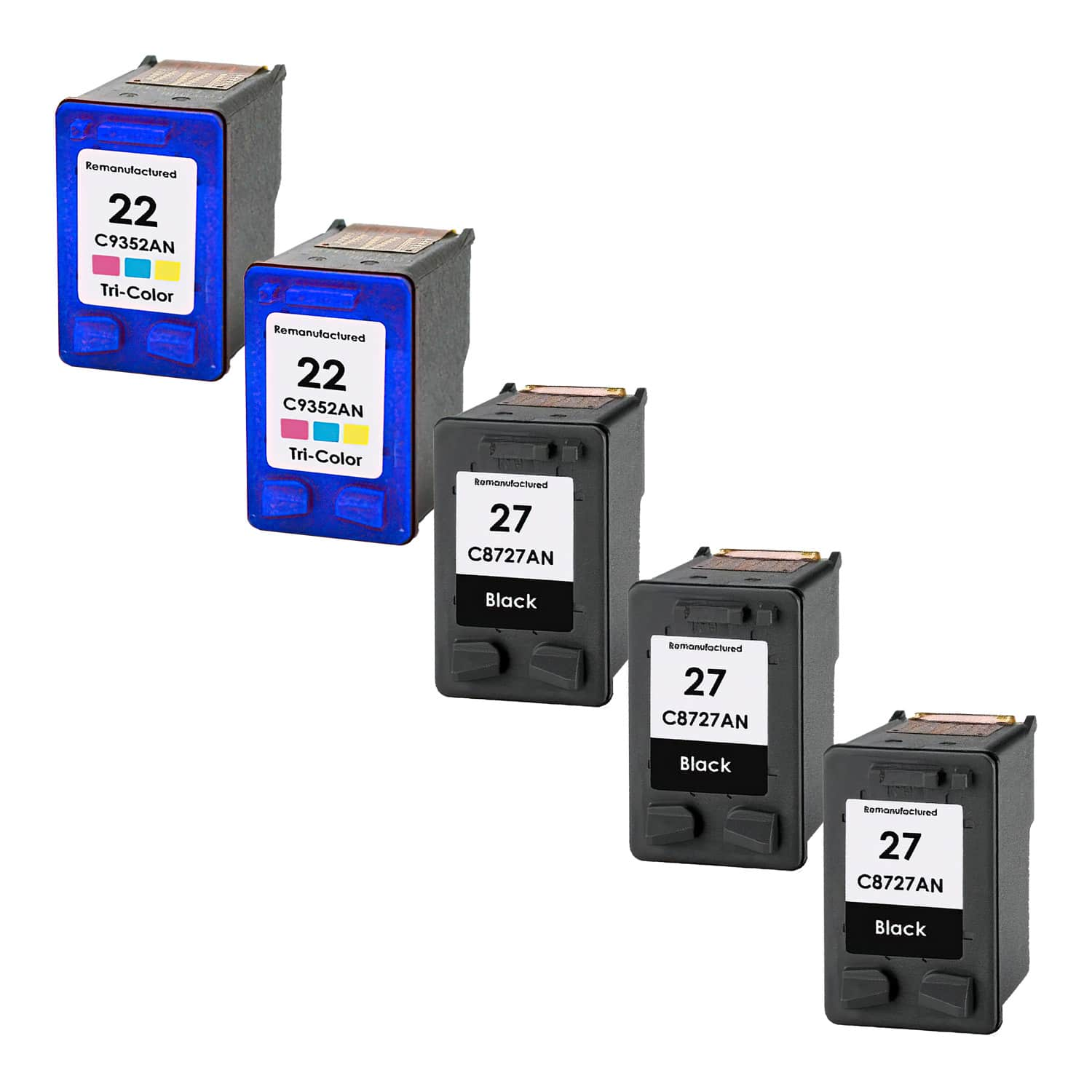 Remanufactured HP 22-27 Inkjet Pack - 5 Cartridges