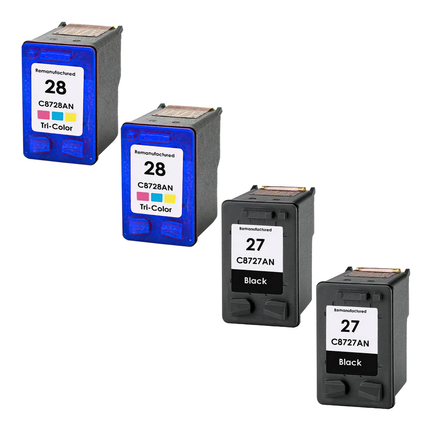 Remanufactured HP 28-27 Inkjet Pack - 4 Cartridges