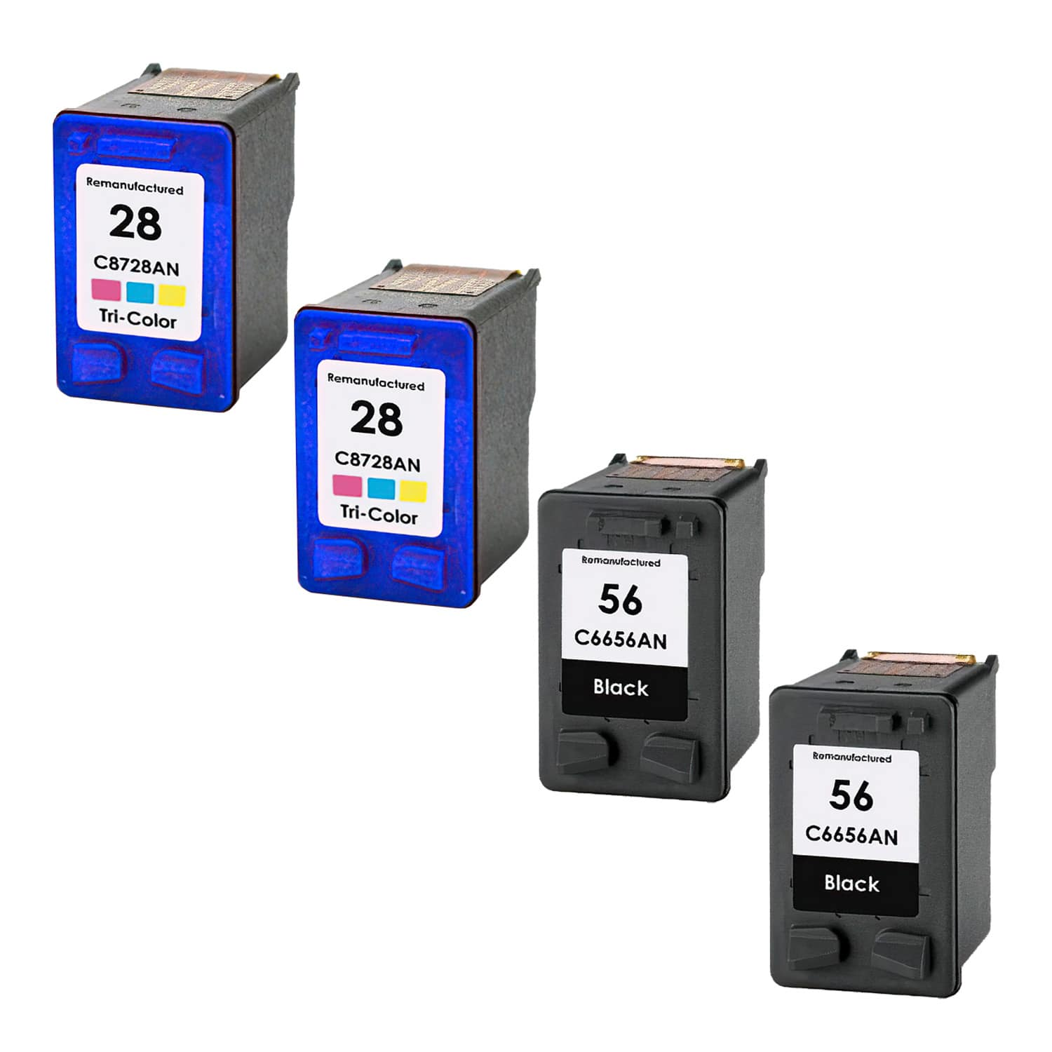 Remanufactured HP 28-56 Inkjet Pack - 4 Cartridges