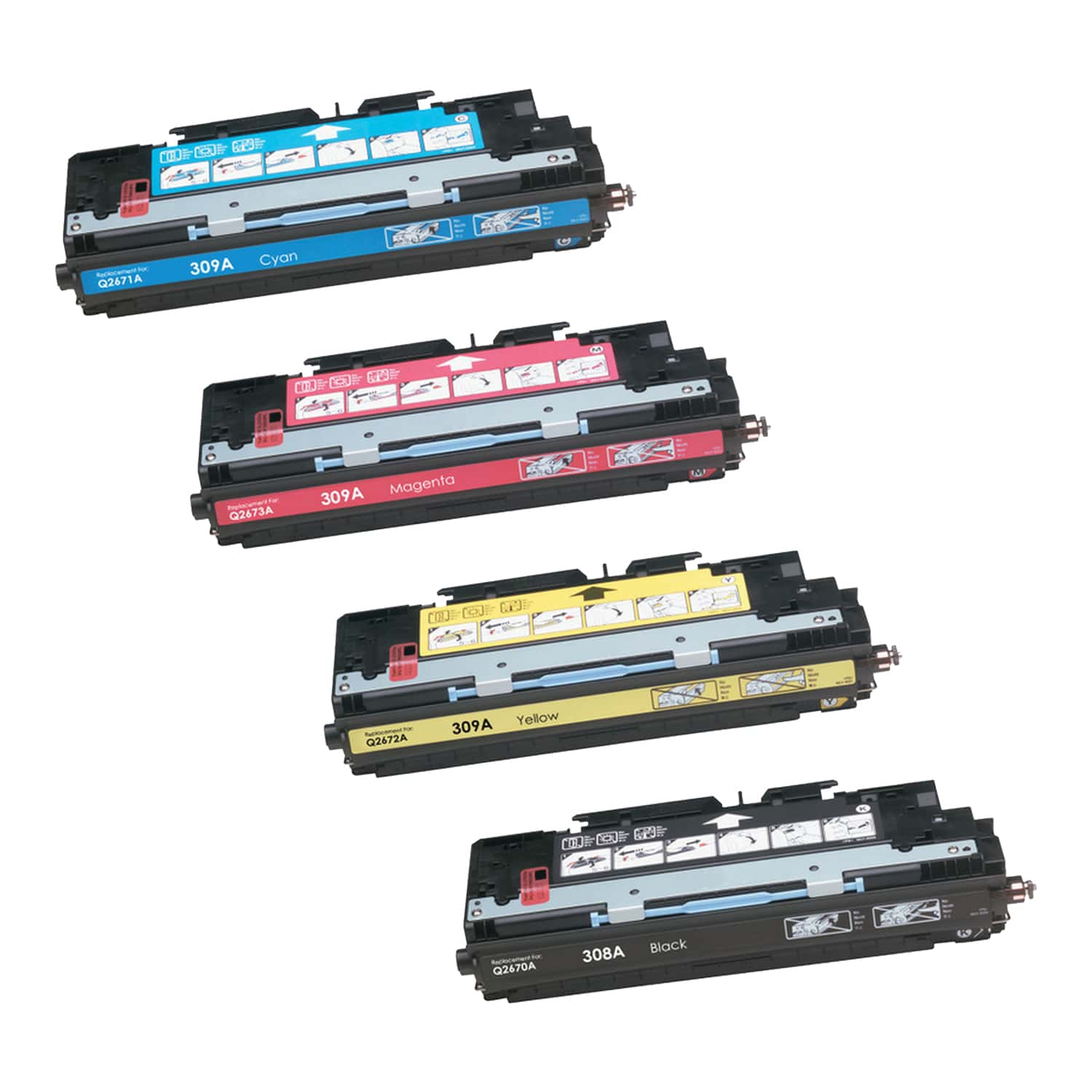 Remanufactured HP Toner Cartridge Bundlpack 309A CMYK Pack - 4 Cartridges