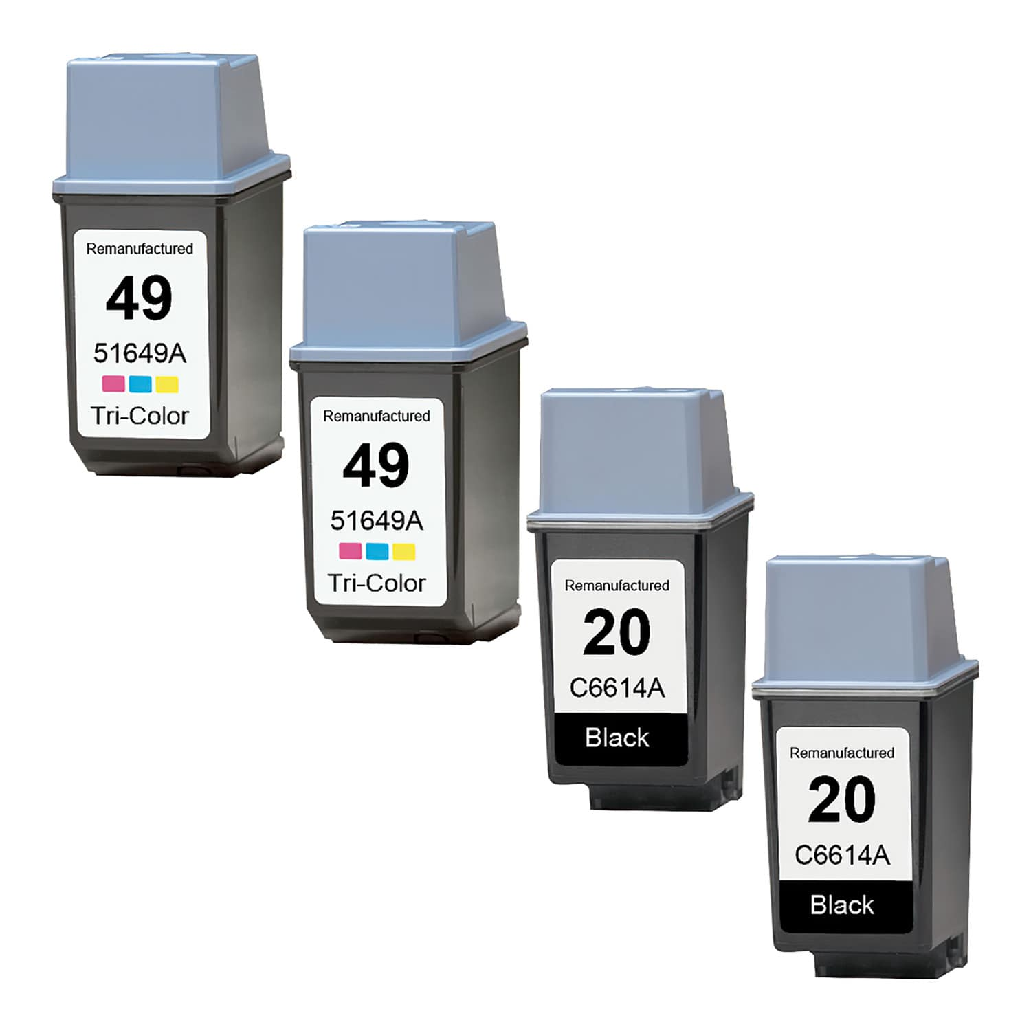 Remanufactured HP 49-20 Inkjet Pack - 4 Cartridges