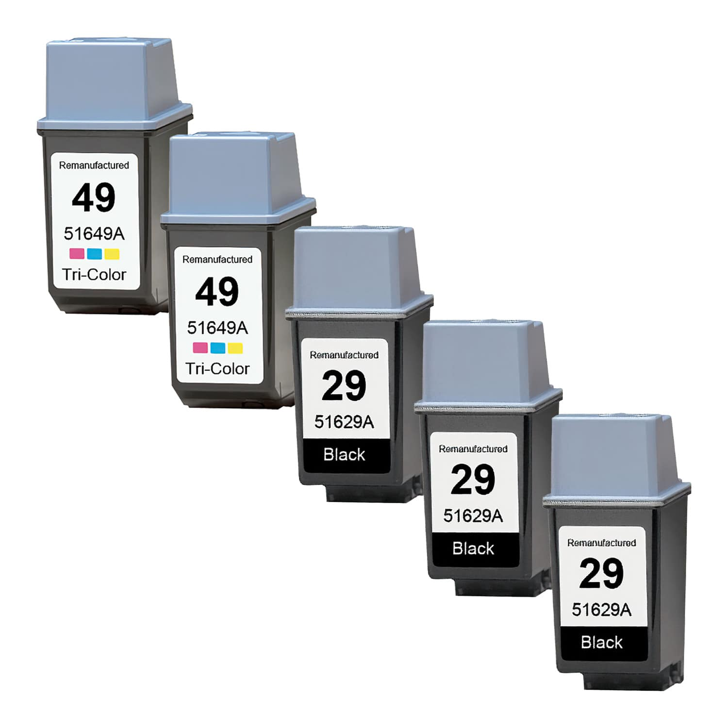 Remanufactured HP 49-29 Inkjet Pack - 5 Cartridges