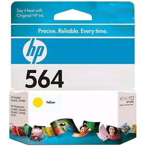 HP 564 Yellow Ink Cartridge - HP Genuine OEM (Yellow)