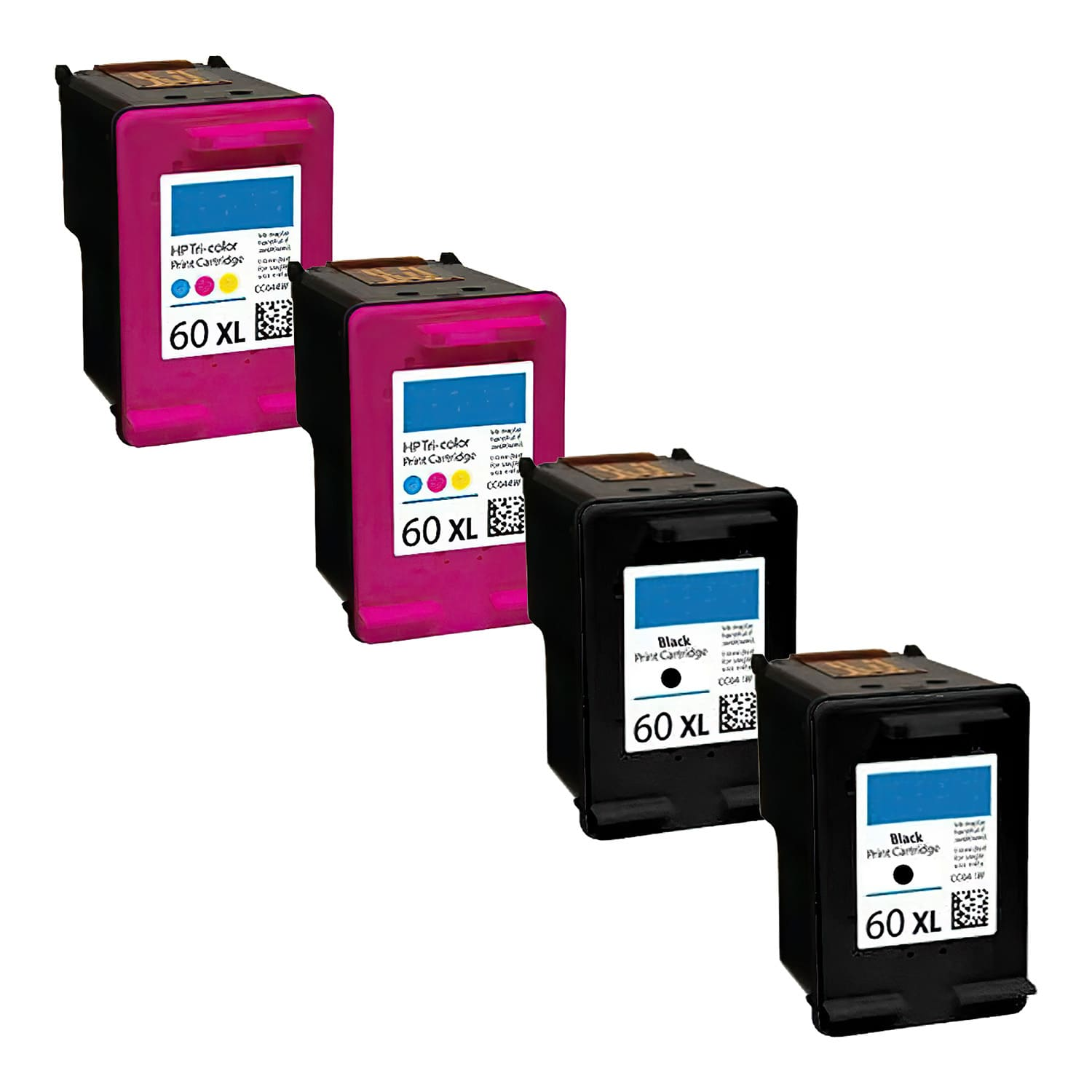 Remanufactured HP 60XL Inkjet High Capacity Pack - 4 Cartridges