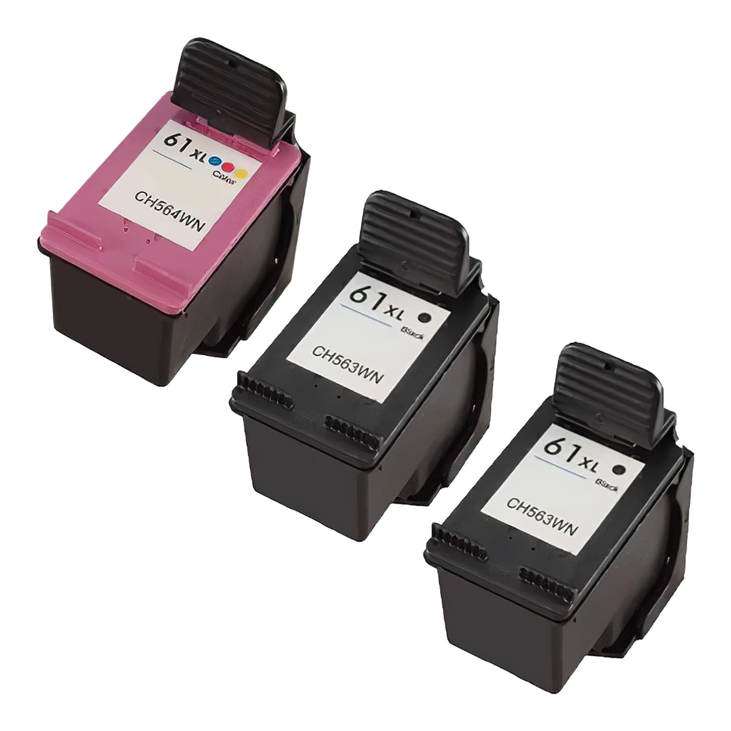 Remanufactured HP 61XL Inkjet High Capacity Pack - 3 Cartridges