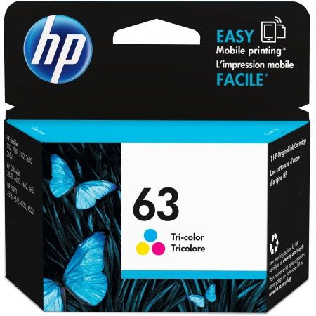 HP 63 Tricolor Ink Cartridge - HP Genuine OEM (Tricolor)