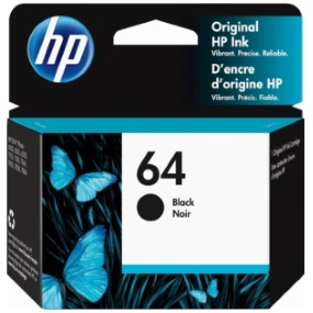 HP 64 Black Ink Cartridge - HP Genuine OEM (Black)