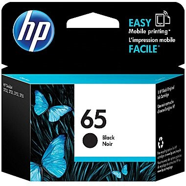 HP 65 Black Ink Cartridge - HP Genuine OEM (Black)